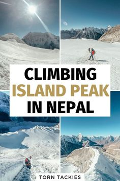 Looking for the best trekking and climbing peak in Nepal? Take a look at Island Peak and add it to your Everest Base Camp trek. It's an adventure you don't want to miss through the most beautiful mountains in Nepal. China Travel, Japan Travel, Amazing Destinations, Travel Destinations, Alaska, Everest Base Camp Trek, Backpacking Asia, Travel Guides, Travel Tips