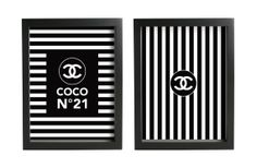 Chanel Brand Birthday Party Posters  Digital Files by MimiDezign, $18.00