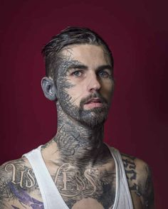 """""""This couldn't be further from the case now. Facial tattoos now represent individuality, creativity, aesthetics, transformation and spirituality.""""   Photographer Tries To Show The People Behind Their Facial Tattoos"""
