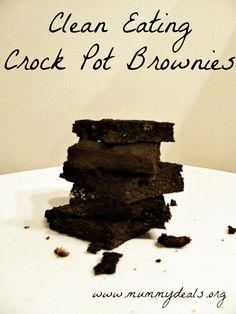 Clean eating crock pot brownies