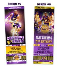 LA Lakers Ticket Birthday party invitations - Printable | BLiTzDesignz - Digital Art  on ArtFire