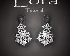 PDF Tatting Pattern Lora Earrings Instant Download von Emeliebeads