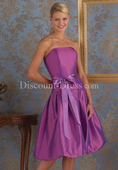 Bridesmaid Dress: love this color and the bow!