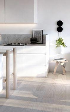 parquet pas cher couleur clair, idee cuisine style industriel bois clair, parquet chene massif clair