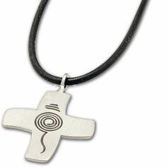 Stilvoller #Kreuz-Anhänger aus #Edelstahl - Geeignetes #Geschenk zum #Sakrament der #Firmung ... Dog Tag Necklace, Washer Necklace, Dog Tags, Personalized Items, Jewelry, Blessing, Faith, Crosses, Jewlery