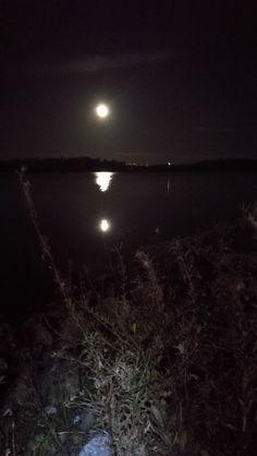 Täysikuun ja otsalampun johdattamana fillarilla Tapaninvainiolta Arabianrantaan. Hieno ilta! Kiitos Raija, Hannu, Sari :)