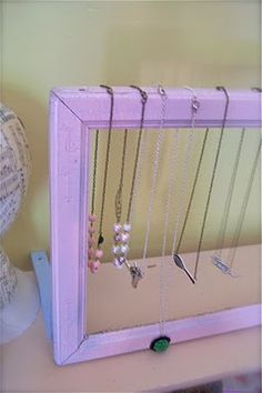 From The Factory: DIY Craft Show Display Tutorial #3: Vintage Frame Necklace Stand