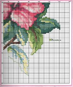 Схема вышивки «Красочная бабочка на цветах»