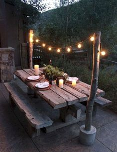 Convenient Patio Table Ideas on a Budget - Backyard Deck Ideas with Small ., convenient patio table ideas on a budget - backyard deck ideas on a budget from home - Backyard Deck Ideas On A Budget, Backyard Patio Designs, Backyard Projects, Backyard Landscaping, Backyard Picnic, Diy Projects, Landscaping Ideas, Rustic Backyard, Backyard Decorations