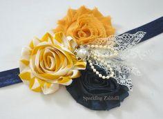 Mustard headband,Navy blue headband,Lace headband,baby girl headband,Pearls headband,baby bows,Vintage headband,newborn headband,infant bows