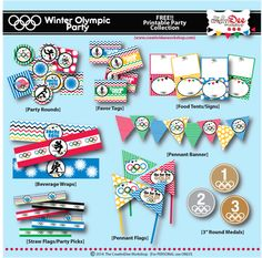 Free Winter Olympic Party Printables - The CreativiDee Workshop