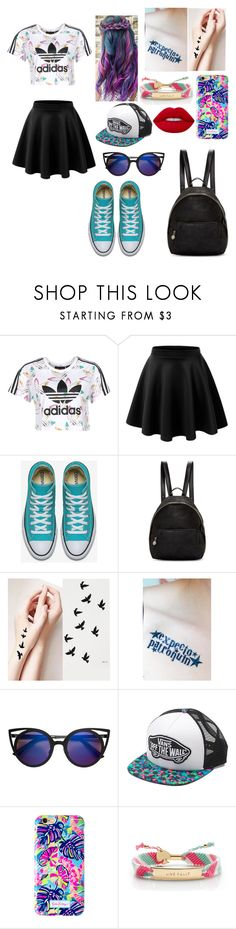 """Untitled #100"" by prettylittlefandom ❤ liked on Polyvore featuring adidas, LE3NO, STELLA McCARTNEY, Vans, Lilly Pulitzer, Kate Spade and Lime Crime"