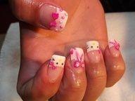 Hello Kitty 3D Nail Designs | Yelp  #3D #Designs #hello #Kitty #Nail #Yelp Bling Nail Art, 3d Nail Art, Bling Nails, Nail Nail, Nail Arts, Diamond Nail Designs, 3d Nail Designs, Really Cute Nails, Hello Kitty Nails