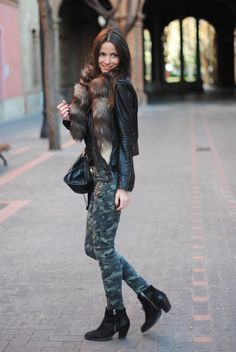Great camo inspiration via Style, Caffeinated
