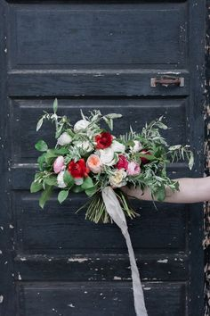Great bouquet for a colorful garden wedding!