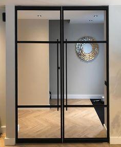 Room Divider Doors, Room Doors, Shop Interior Design, Interior Decorating, Hall Lamps, Wall Design, House Design, French Windows, Luxury Office