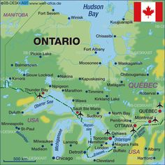 image detail for map of ontario canada map in the atlas of the world world atlas
