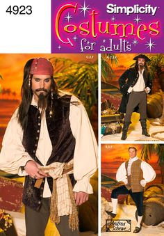 Mens Costume Costume Sewing Pattern 4923 Simplicity
