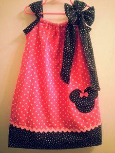 Pink Polka Dot Minnie Mouse Pillowcase Dress by NurseswithNotions, $30.00