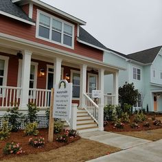 The Waterside Cottage from The Cottages at RiverLights spans 1,890 heated square-feet. It has 3 bedrooms, 2.5 baths and includes a 1st floor master suite. The additional bedrooms are found on the second floor with a Jack and Jill bathroom. The home featur