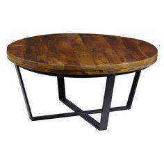 484 Kosas Home Kosas Kinda Reclaimed Wood Round Coffee Table