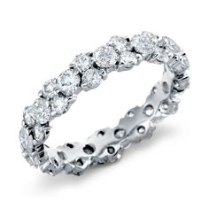 Normally I'd probably say it's too much bling but I love the skinny band. Garland Diamond Eternity Ring in Platinum ct. Eternity Ring Diamond, Diamond Wedding Rings, Diamond Bands, Eternity Bands, Diamond Jewelry, Diamond Stone, Jewelry Rings, Silver Jewelry, Jewelry Ideas