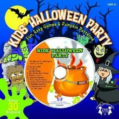 Kid's Halloween Party - Fun, Games, Book, CD with Spooky Sounds & Pumpkin Patterns by Twin Sisters. $1.99