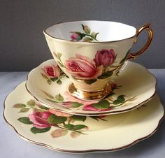 "~ Vintage Teacup in Trio by Royal Albert England ""English Beauty"" ..."