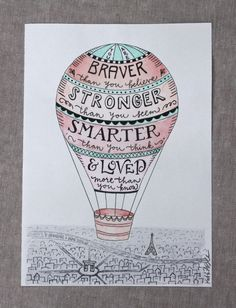 Amazing Hot Air Balloon Quote | Zinnia Hand-Lettered Design