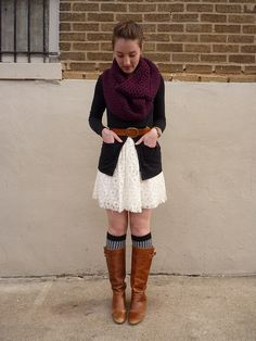 Tania from What Would A Nerd Wear - great colors, and I especially love the patterned socks!