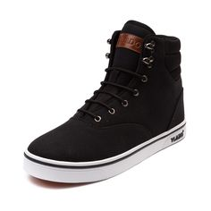 The new Milo Skate Shoe from Vlado combines the style of a boot with the comfort of a sneaker. Hit the streets in style with the Milo, featuring a high top style with canvas uppers, lace-up closure, padded tongue and collar, and durable rubber outsole for grip and traction. Simplicity and comfort never looked so good!