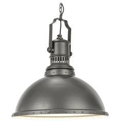 Industrial -henkinen grafiitinharmaa metalliriippu on näyttävä valaisin vaikka ruokapöydän päälle