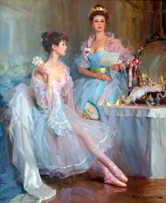 A Letter from My Beau. Konstantin Razumov (Russian, born 1974). Razumov has painted all kinds of subjects, from nudes to landscapes. His bri...