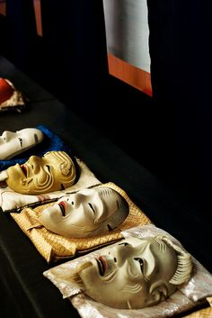 Noh masks for theatre.