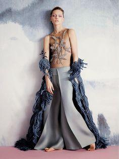 Sasha Pivovarova by Ben Toms for V Magazine Summer 2015