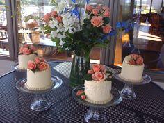Mini Centerpiece Cakes For The Kellers 50th Anniversary Celebration  cakepins.com