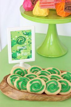 Moana birthday party ideas - heart of the fiti sugar cookies