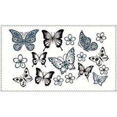 Fashion Temporary Tattoos Butterfly Sexy Body Art Waterproof Tattoo Stickers 5PCS (Size: 2.36'' by 4.13'') ** Check out the image by visiting the link. (This is an affiliate link and I receive a commission for the sales) #Makeup