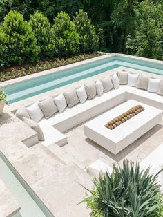 Backyard Pool Designs, Pool Landscaping, Outdoor Fire, Outdoor Living, Outdoor Pool Areas, Outdoor Seating, Dream House Exterior, Pool Houses, Exterior Design