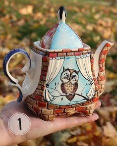 Какой чайник вам понравился больше всего? 1 🔄10  #чайник #чаепитие #керамика #интерьер