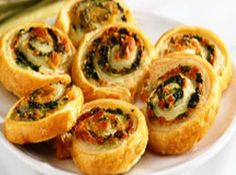 Spinach and cheese roll ups