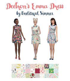 Deetron's Emma dress at Deeliteful Simmer • Sims 4 Updates