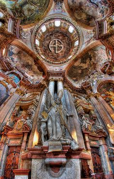 Église Saint-Nicolas, Prague, Czech Republic... The inside and outside of this church are so lovely!