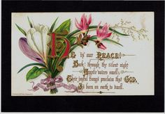 VICTORIAN CHRISTMAS GREETINGS CARD RELIGIOUS TEXT PRANG in Collectables, Paper & Ephemera, Greeting Cards, Antique (Pre-1920) | eBay