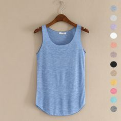Tanks Camis 2016 summer Fitness Tank Top New T Shirt Plus Size Loose Model Women T-shirt Cotton O-neck Slim Tops Fashion Woman Clothes This is an AliExpress affiliate pin. Item can be found on AliExpress website by clicking the VISIT button Top Fashion, Womens Fashion, Ladies Fashion, Fashion Styles, Style Fashion, High Fashion, Fashion Ideas, Top Mode, Blouses For Women