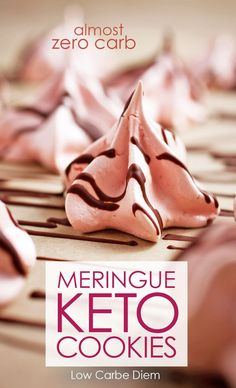These crunchy, almost zero carb keto meringues are quite possibly the most versatile, low calorie cookie - ever.