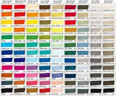 ZIG kuretake kurecolor color chart