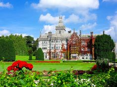 Ready for the return trip. Ireland: Adare Manor in in Adare village, County Limerick.