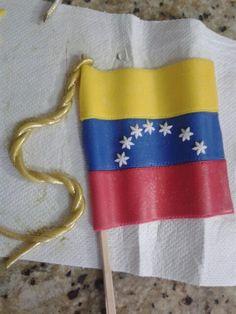 Mi bandera preferida. Venezuela cake fondant