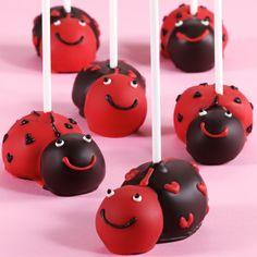 So cute!!!! Ladybug cake pops!!!